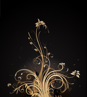 Vector illustration of Grunge Floral Background 60016007818  写真素材・ストックフォト・画像・イラスト素材 アマナイメージズ