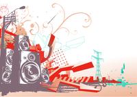 Vector illustration of style urban background 60016007825| 写真素材・ストックフォト・画像・イラスト素材|アマナイメージズ