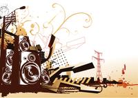 Vector illustration of style urban background 60016007827| 写真素材・ストックフォト・画像・イラスト素材|アマナイメージズ