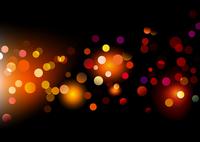 Vector illustration of disco lights dots pattern on black background