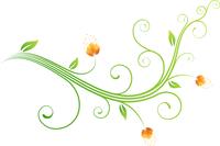 Vector illustration of style Floral Background 60016007865| 写真素材・ストックフォト・画像・イラスト素材|アマナイメージズ