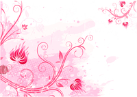 Vector illustration of pink Grunge Floral Background