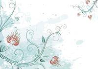 Vector illustration of Grunge Floral Background 60016007872| 写真素材・ストックフォト・画像・イラスト素材|アマナイメージズ