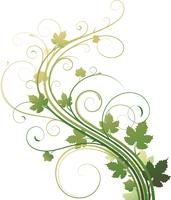 Vector illustration of style Floral Background 60016007879| 写真素材・ストックフォト・画像・イラスト素材|アマナイメージズ