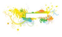 Vector illustration of style Floral Background 60016007885| 写真素材・ストックフォト・画像・イラスト素材|アマナイメージズ