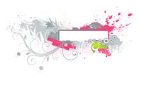 Vector illustration of Grunge Floral Decorative banner 60016007887  写真素材・ストックフォト・画像・イラスト素材 アマナイメージズ