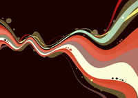 Vector illustration of style wave colored abstract Background