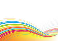 Vector illustration of abstract background made of Colorful Rainbow curved lines