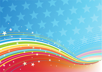 Vector illustration of fourth of July patriotic abstract background