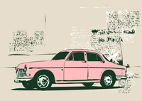 Vector Illustration of old vintage custom collector´s car