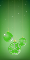 Vector Illustration of three Christmas Balls decorated with snowflake