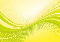 Yellow abstract techno background: composition of dots and curved lines - great for backgrounds, or layering over other images