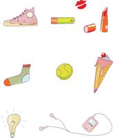 Vector illustration - set of urban Design Elements