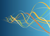 Abstract lines background: composition of colored curved lines - great for backgrounds, or layering over other images