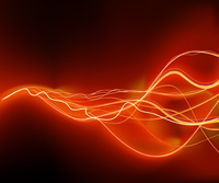 A vector illustrated   futuristic background resembling red motion blurred neon light curves