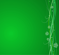 Green Christmas background: composition of curved lines and snowflakes - great for backgrounds, or layering over other images 60016008009| 写真素材・ストックフォト・画像・イラスト素材|アマナイメージズ