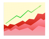 Vector illustration - Shiny  graph of success trend
