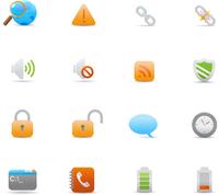 Vector illustration set of elegant  simple icons for common computer functions 60016008084| 写真素材・ストックフォト・画像・イラスト素材|アマナイメージズ