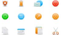 Vector illustration set of elegant simple icons for common computer functions 60016008090| 写真素材・ストックフォト・画像・イラスト素材|アマナイメージズ
