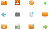 Vector illustration set of elegant simple icons for common computer and media devices functions