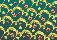 Vector illustration of abstract background made of floral elements and fun party colors stars 60016008098  写真素材・ストックフォト・画像・イラスト素材 アマナイメージズ