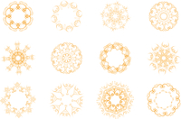 Vector illustration set of abstract floral and ornamental elements 60016008108| 写真素材・ストックフォト・画像・イラスト素材|アマナイメージズ