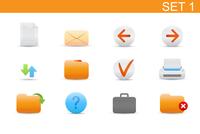 Vector illustration set of elegant simple icons for common computer functions. Set-1 60016008112| 写真素材・ストックフォト・画像・イラスト素材|アマナイメージズ