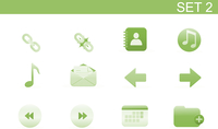 Vector illustration set of elegant simple icons for common computer functions. Set-2