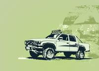 Vector illustration of stylized vintage military vehicle on the grunge background 60016008159| 写真素材・ストックフォト・画像・イラスト素材|アマナイメージズ