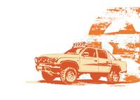 Vector illustration of stylized vintage military vehicle on the grunge background 60016008160| 写真素材・ストックフォト・画像・イラスト素材|アマナイメージズ