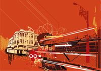Vector illustration of style urban background 60016008229| 写真素材・ストックフォト・画像・イラスト素材|アマナイメージズ