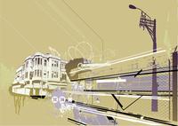 Vector illustration of style urban background 60016008230| 写真素材・ストックフォト・画像・イラスト素材|アマナイメージズ