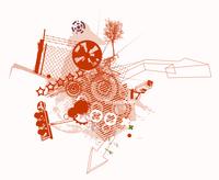 Vector illustration of style urban background 60016008237| 写真素材・ストックフォト・画像・イラスト素材|アマナイメージズ