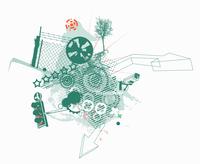 Vector illustration of style urban background 60016008238| 写真素材・ストックフォト・画像・イラスト素材|アマナイメージズ