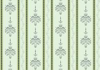 Vector illustration of elegant Victorian retro motif wallpaper Pattern
