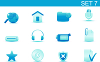 Vector illustration set of blue elegant simple icons for common computer and media devices functions. Set-7 60016008250| 写真素材・ストックフォト・画像・イラスト素材|アマナイメージズ
