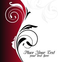 Illustration floral background card for design - vector