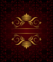 Illustration vintage background with crown - vector