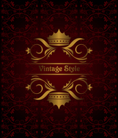 Illustration vintage background with crown - vector 60016008611| 写真素材・ストックフォト・画像・イラスト素材|アマナイメージズ