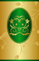 Illustration golden background with label for packing design - vector 60016008624| 写真素材・ストックフォト・画像・イラスト素材|アマナイメージズ