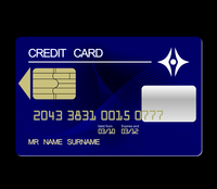 Realistic illustration credit card - vector