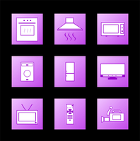Icon appliances. Vector