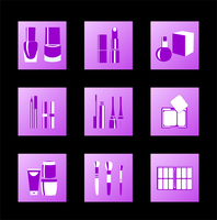 Cosmetic icons. Vector