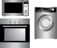 Set of household appliances. Vector illustration. Isolated.