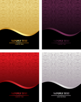 Set of luxury backgrounds for design - vector