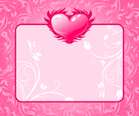Illustration congratulation card with heart for Valentine's day - vector 60016008765| 写真素材・ストックフォト・画像・イラスト素材|アマナイメージズ