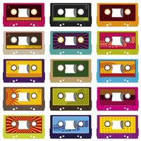 Audio cassettes isolated on white