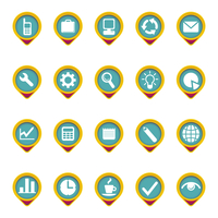 Composed icon set in color
