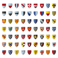 European crests isolated on white