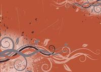 Vector illustration of red Grunge Floral Background 60016008836| 写真素材・ストックフォト・画像・イラスト素材|アマナイメージズ